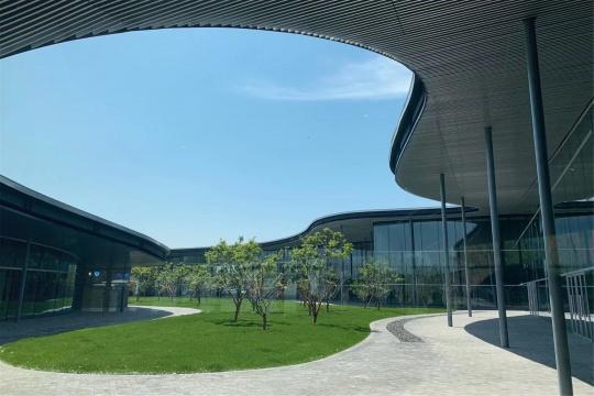 济宁市美术馆内庭院