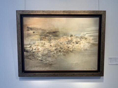 赵无极 《11.03.60》 73×100cm 油彩画布 1960  估价:1000万-1200万港元