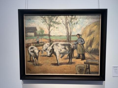 关良 《无题》 54.5×67.2cm 油彩画布  估价:180万-250万港元