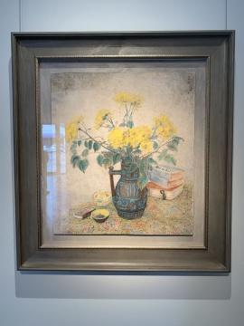 潘玉良 《黄菊瓶花》 73×64cm 水墨设色纸本 1966  估价:650万-850万港元