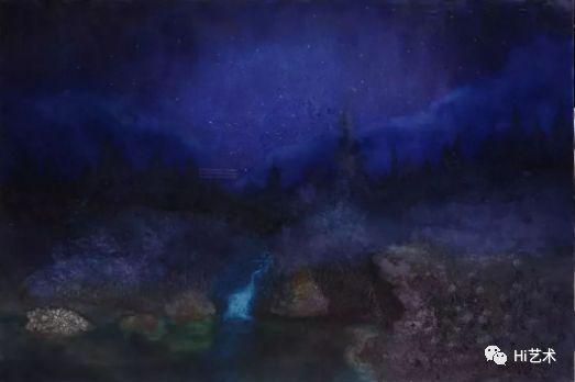 《风愈静·夜更深 》布面油画 300×200cm 2016