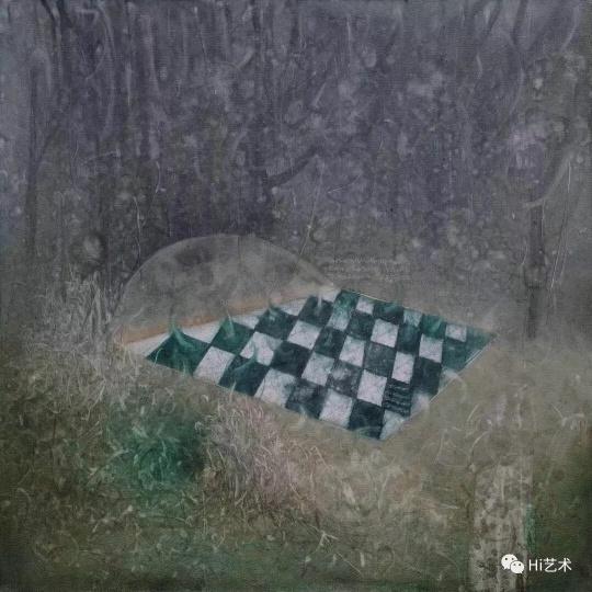 《慎独》100x100cm 布面油画 2017