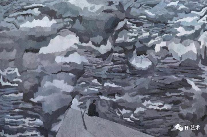 《失眠者6》200x300cm 布面油画 2017