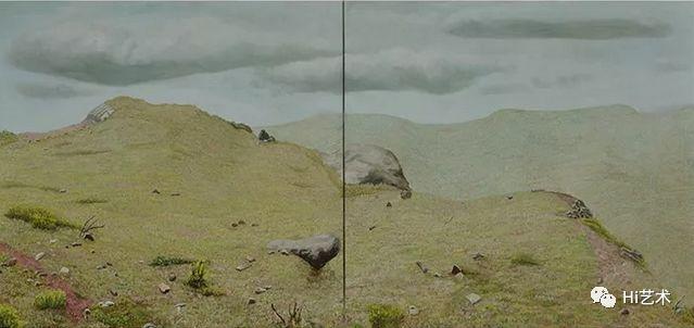 《在那山》123x145cm 布面油画 2013