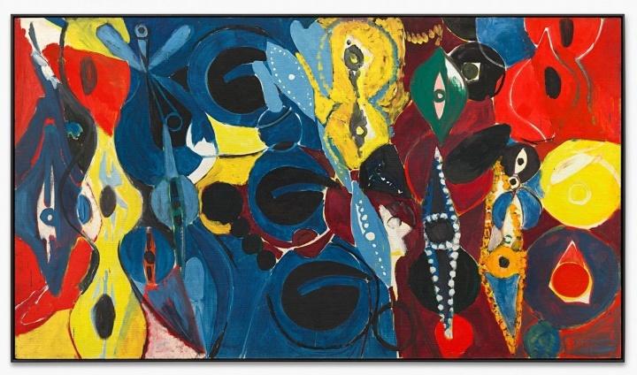 恩斯特·维尔海姆·奈伊《<早晨>的研究(一)》160×285cm 板上油画 1965