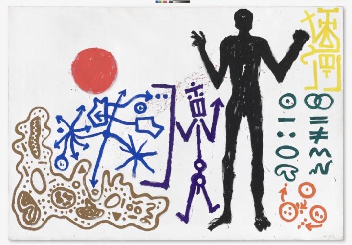 A.R.彭克《男人 (三)》280×400cm 布面丙烯 1981