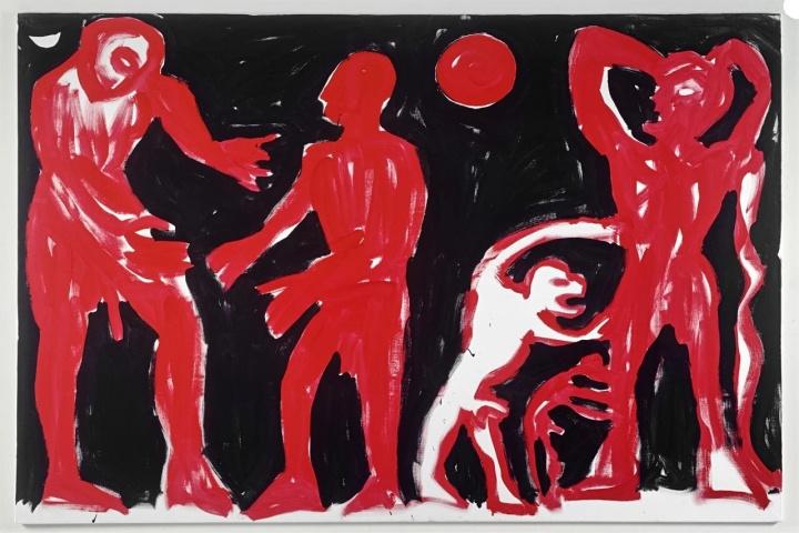 A.R.彭克《夜晚故事》200×300cm 布面油画 1991