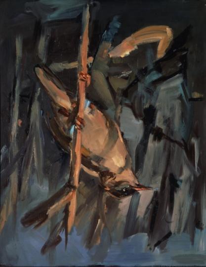 乔治·巴塞利兹 《一只鸟》162×130cm 布面油画 1972