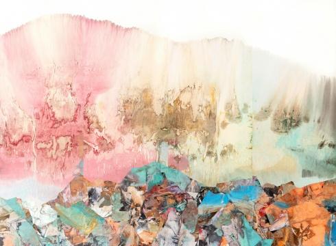 《秋韵》 276 × 378cm 宣纸、墨、矿物、植物颜料 2018