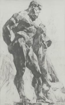 《力士》 71x45cm纸本素描1977
