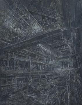 《冶炼厂》190x150cm 布面油画 2000