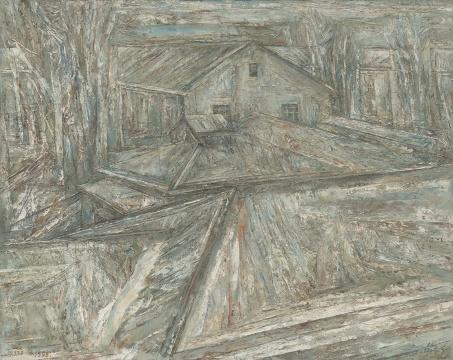 《老美专》150x188cm 布面油画 1997