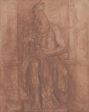 《摩西》100x80cm 布面素描 2012