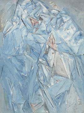 《神山》 200x150cm布面油画 2009