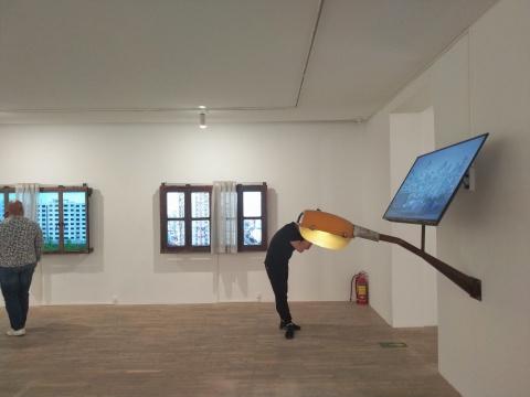 """胡为一""""窗外无窗""""HdM画廊展览现场"""