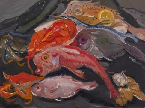 《墨尔本鱼市之一》61×41.5cm 2015