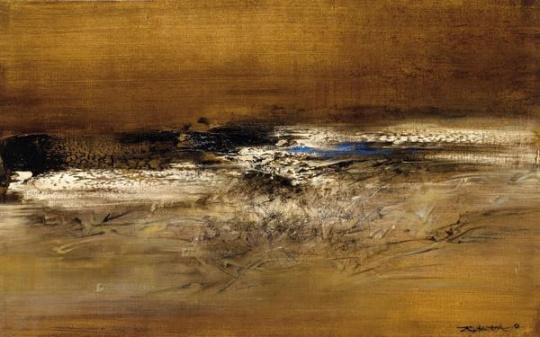 赵无极 《2.6.1961》 73×116cm 布面油画 1961估价:1800万-3500万元