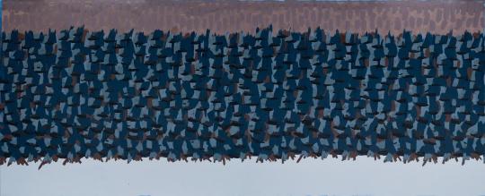 《打开折叠 2》205×506×5cm布上丙烯2017