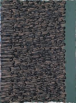 《打开折叠 9》126×93×3.5cm布上丙烯2017