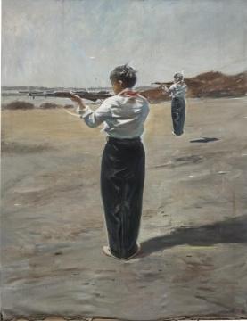 贾蔼力《未命名》210x270cm 布面油画 2015