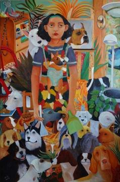 刘冰 《以后的我》 150×100cm 布面油画 2012