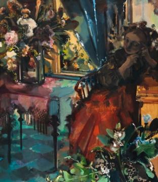 夏俊娜 《盛装》 150×130cm 布面油画 2003