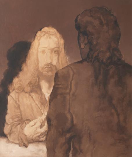 《对话7号》 190×160cm 布面油画2018