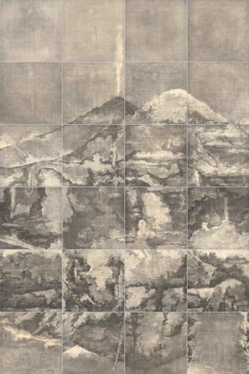 《荒原3号》300×200cm 铜版画 2017