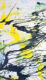 嶋本昭三(Shozo Shimamoto) 爆瓶 丙烯塑化帆布 2003年作 HKD 180,000-480,000 USD 22,900-61,000
