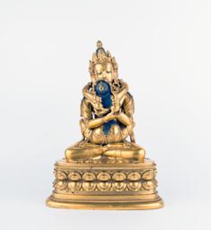 17 / 18世纪 铜鎏金白胜乐金刚 高:24cm HKD 5,000,000-8,000,000 USD 637,300-1,019,700 (Rossi & Rossi 佛教艺术品专场)