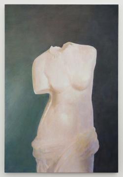 王强 《希腊雕像》120×81 cm 布面丙烯 2019