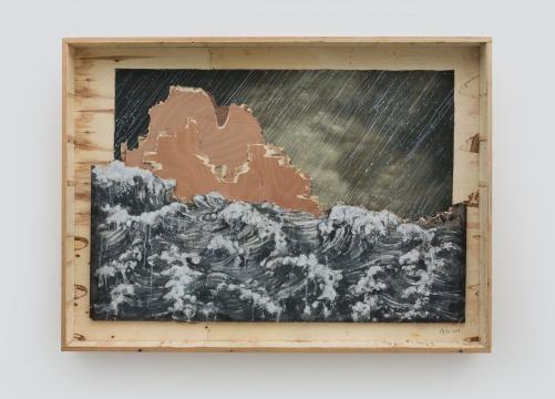 《包装箱》137×184cm木板综合材料2019