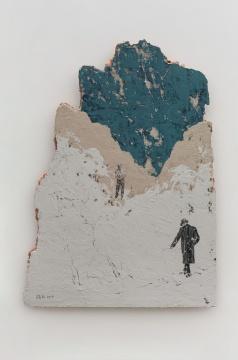 《残山之若谷》117×86cm木板综合材料2019