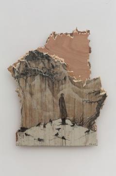 《残山之残山》99×86cm木板综合材料2019