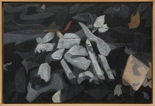 《灰烬》90×60cm布面油画 2019
