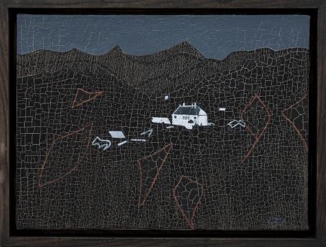 《房间外 二》 30×22cm 布面油画 2017