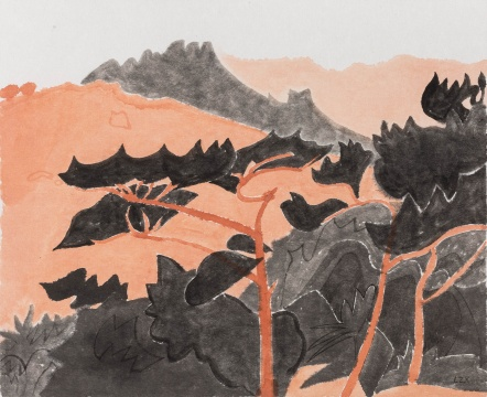 《赤松》 38×31cm纸本水墨 2017