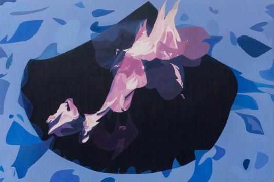 《夜火1》 200×300cm布面油画 2019