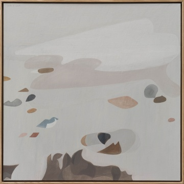 《冬天1》100×100cm布面油画 2019