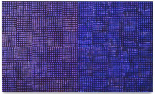 《ink:work, 2018, Ex. Unique》60.96×101.6×5cm 木板、纸面墨水、油彩棒 2019MDC画廊
