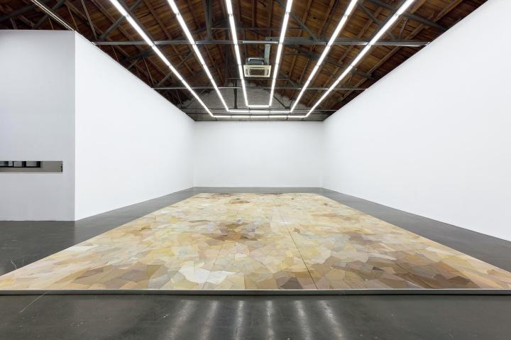 马秋莎 《沃德兰》 装置980×615cm水泥、尼龙袜、多层板、铁、树脂2016©️泰康收藏