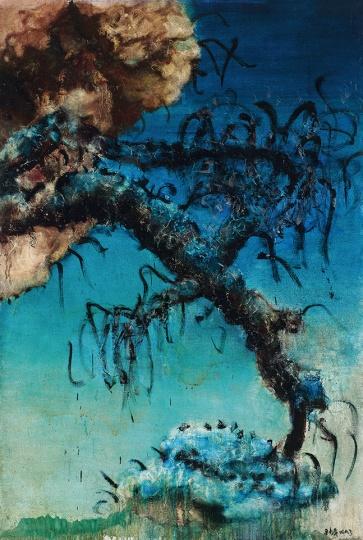 周春芽《中国风景》194×130cm布面油画1993©️泰康收藏