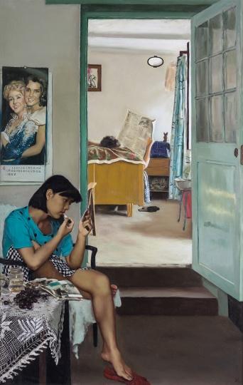 刘小东 《小豪,佩怡,小姚》162×130cm布面油画2002©️泰康收藏
