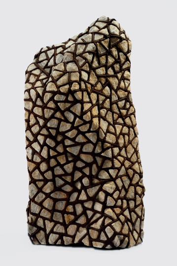 隋建国 《结构系列(云石)》99×65×35cm云石、铁1993©️泰康收藏