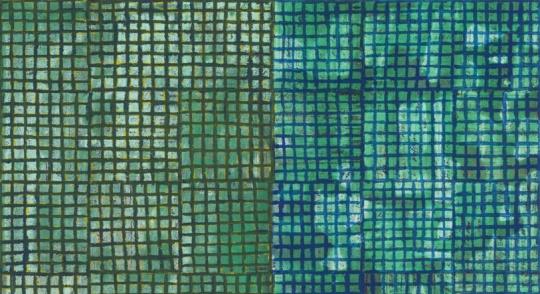 《ink:work》91.4×61× 5.1cm 木板、纸面墨水、油彩棒 2018  立木画廊