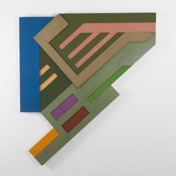 弗兰克·斯特拉 《欧肯尼基 II》 241.3×213.4cm 瓦楞纸板,毛毡,颜料,木结构 1972  © 2019 弗兰克·斯特拉/纽约Artists Rights Society(ARS) 图片鸣谢:卡斯明画廊
