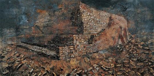 安塞姆·基弗 《新月沃土》 475×950cm 布面丙烯、油彩、虫漆、沙石 2009  估价:1700万-2500万元