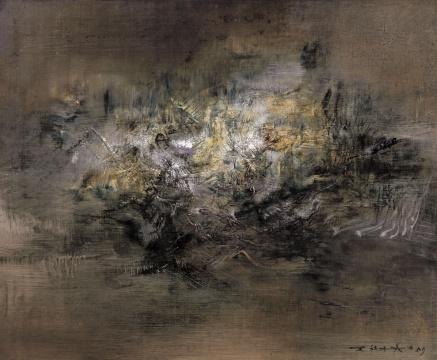 赵无极 《31.3.59/1.3.69》 60×73cm 布面油画 1959-1969  估价:550万-750万元