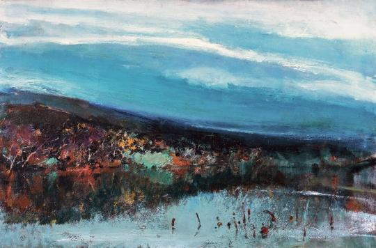 苏天赐 《秋渚》 65×110cm 布面油画 1991  估价:100万-150万元