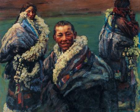 陈逸飞 《绿绿的草原》 200×250cm 布面油画 1996  估价:1200万-1800万元